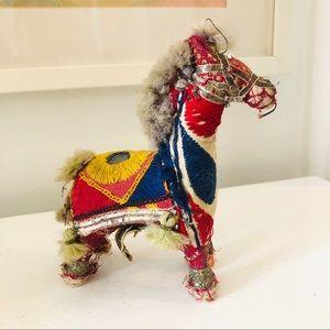 Vintage handmade Indian Rajasthani cloth horse